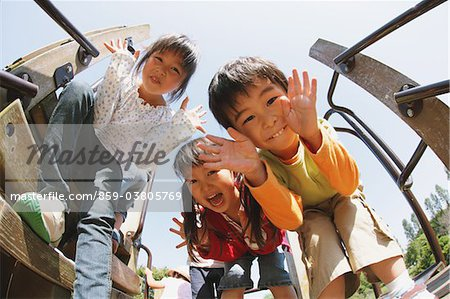 Children in Playground With Naughty Expressions Stock Photo - Rights-Managed, Image code: 859-03805769