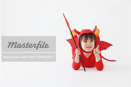 Boy in Red Devil Costume Stock Photo - Rights-Managed, Image code: 859-03806251