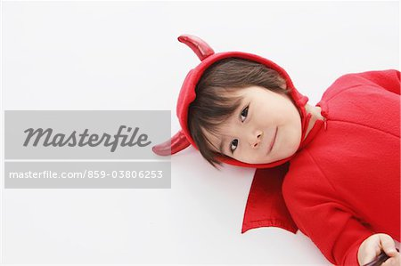 3 Year Boy Dressed Up As Devil Stock Photo - Rights-Managed, Image code: 859-03806253