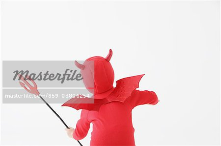 Boy in Red Devil Costume Stock Photo - Rights-Managed, Image code: 859-03806254