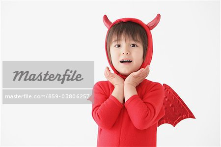 Boy in Red Devil Costume Stock Photo - Rights-Managed, Image code: 859-03806257