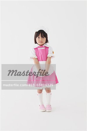 Japanese Girl In Pink Dress Stock Photo - Rights-Managed, Image code: 859-03806325