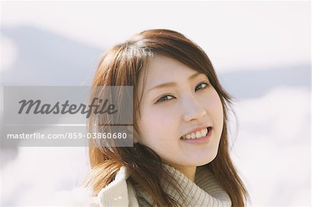 Portrait Of Beautiful Japanese Teenage Girl Stock Photo - Rights-Managed, Image code: 859-03860680