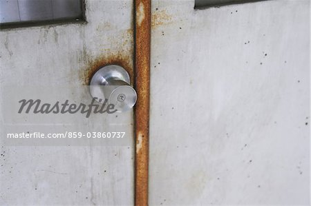Close Up Of Steel Door Lock Stock Photo - Rights-Managed, Image code: 859-03860737