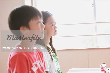 School Friends Sitting Together In Classroom Stock Photo - Rights-Managed, Image code: 859-03860765