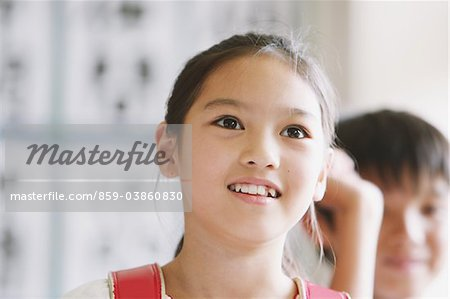 Curious Schoolgirl Stock Photo - Rights-Managed, Image code: 859-03860830