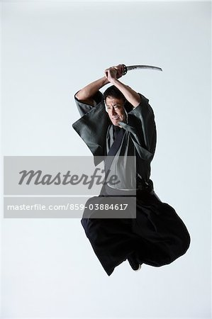 Japanese Samurai Stock Photo - Rights-Managed, Image code: 859-03884617