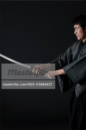 Japanese Samurai Stock Photo - Rights-Managed, Image code: 859-03884637