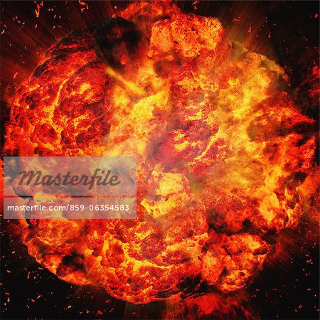 Giant Fireball Stock Photo - Rights-Managed, Image code: 859-06354583
