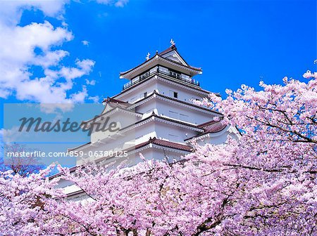 Tsuruga Castle, Fukushima Prefecture, Japan Stock Photo - Rights-Managed, Image code: 859-06380125