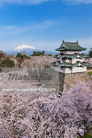 Hirosaki Castle, Aomori Prefecture, Japan Stock Photo - Rights-Managed, Image code: 859-06380178