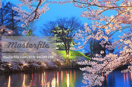 Yozakura Takada, Niigata Prefecture, Japan Stock Photo - Rights-Managed, Image code: 859-06380299