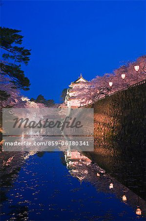 Hirosaki Castle, Aomori Prefecture, Japan Stock Photo - Rights-Managed, Image code: 859-06380341
