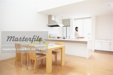 Eat in kitchen Stock Photo - Rights-Managed, Image code: 859-06538413