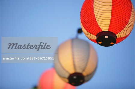 Japanese paper lanterns Stock Photo - Rights-Managed, Image code: 859-06710951