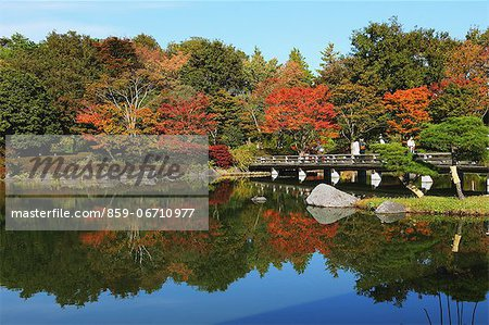 Japanese Garden at Showa Kinen Park, Tokyo Stock Photo - Rights-Managed, Image code: 859-06710977