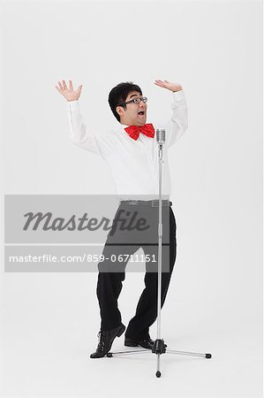 Comedian performing Stock Photo - Rights-Managed, Image code: 859-06711151
