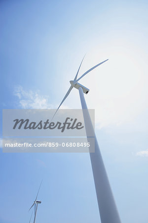 Wind turbines Stock Photo - Rights-Managed, Image code: 859-06808495