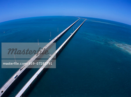 Seven mile Bridge, America Stock Photo - Rights-Managed, Image code: 859-07283791