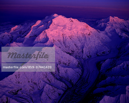 Mount McKinley, Denali National Park, Alaska, USA Stock Photo - Rights-Managed, Image code: 859-07441420
