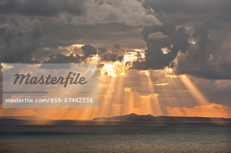 Sunset sky and sea Stock Photo - Rights-Managed, Image code: 859-07442236