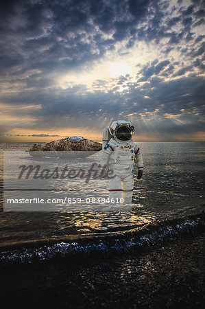 CG astronaut Stock Photo - Rights-Managed, Image code: 859-08384610