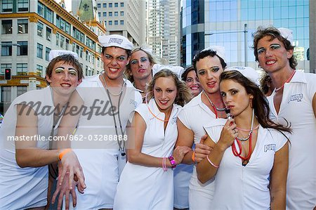 Participants in the annual Sydney Gay and Lesbian Mardi Gras Parade Stock Photo - Rights-Managed, Image code: 862-03288888
