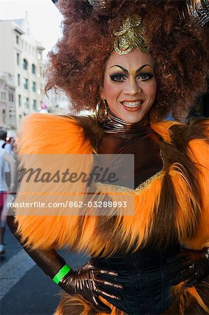 Participant in the Sydney Gay and Lesbian Mardi Gras Parade Stock Photo - Rights-Managed, Image code: 862-03288893