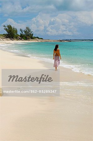 The main beach at Little Whale Cay . . Stock Photo - Rights-Managed, Image code: 862-03289347