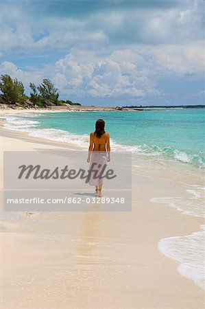 The main beach at Little Whale Cay . . Stock Photo - Rights-Managed, Image code: 862-03289348