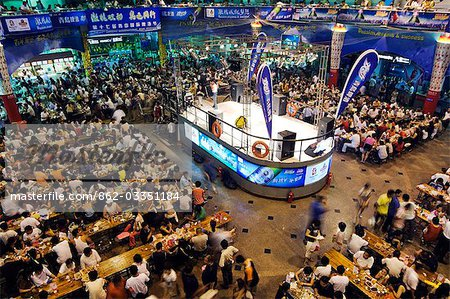 China,Shandong Province,Qingdao City. Qingdao International Beer Festival. Qingdao is the host of the sailing events of the 2008 Olympic Games. Stock Photo - Rights-Managed, Image code: 862-03351184