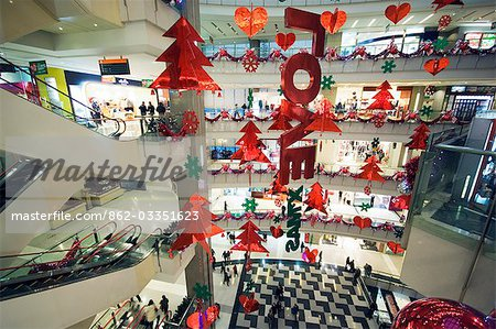 China Shanghai Christmas decorations in a modern department store