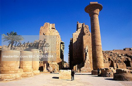 The massive columns of the Temple of Karnak Stock Photo - Rights-Managed, Image code: 862-03352694
