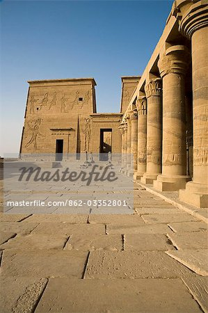 The Temple of Philae stands on an island in Lake Nasser and is a popular day trip from Aswan,Egypt Stock Photo - Rights-Managed, Image code: 862-03352801