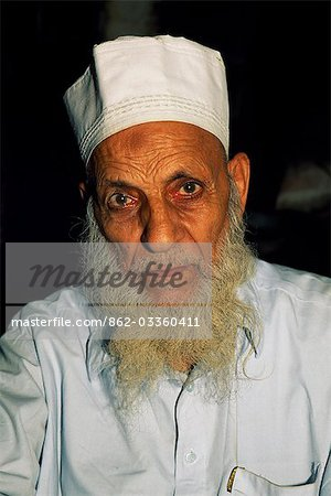An elderly resident of Lahore,capital of the Punjab and Pakistan's most cultured city. Stock Photo - Rights-Managed, Image code: 862-03360411
