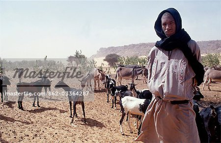 Shepherd / Goat Breeder in the desert