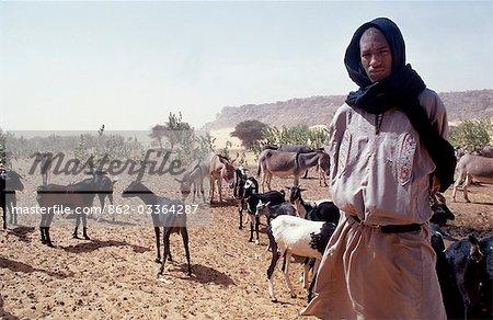 Shepherd / Goat Breeder in the desert