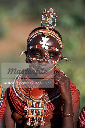A young Laikipiak Maasai girl. Stock Photo - Rights-Managed, Image code: 862-03365986