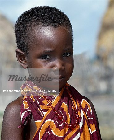 A Galla girl from Kenya's Coast Province. Stock Photo - Rights-Managed, Image code: 862-03366186