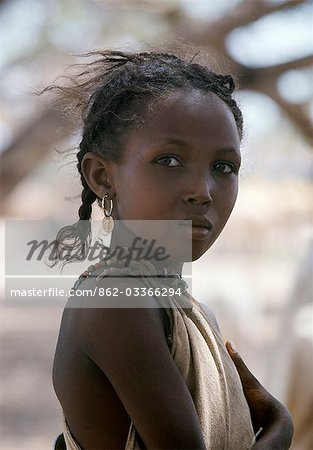An attractive young girl from the nomadic Gabbra tribe. Stock Photo - Rights-Managed, Image code: 862-03366294
