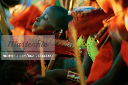 Laikipiak Maasai Girl Dancing Stock Photo - Rights-Managed, Image code: 862-03366383