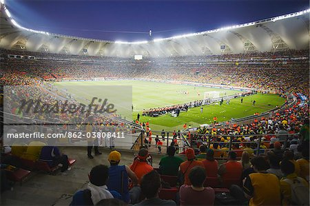 Football fans at World Cup match, Port Elizabeth, Eastern Cape, South Africa Stock Photo - Rights-Managed, Image code: 862-03808411