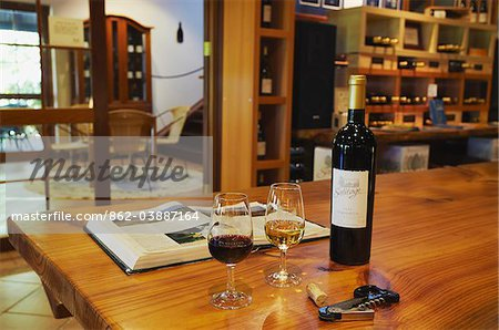 Wine tasting room in Salitage winery, Pemberton, Western Australia, Australia Stock Photo - Rights-Managed, Image code: 862-03887164