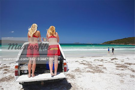 Lifeguards on Middleton Beach, Albany, Western Australia, Australia Stock Photo - Rights-Managed, Image code: 862-03887199