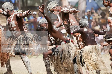Australia, Queensland, Laura.  Indigenous dance troupe at the Laura Aboriginal Dance Festival. Stock Photo - Rights-Managed, Image code: 862-03887269