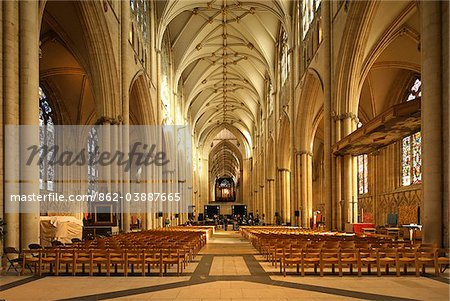 York Minster is a Gothic cathedral in York, England and is one of the largest of its kind in Northern Europe alongside Cologne Cathedral. Stock Photo - Rights-Managed, Image code: 862-03887665