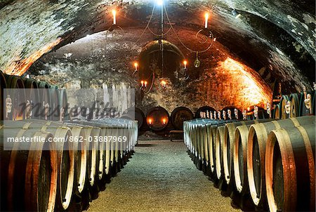 Wine cellar, castle Johannisburg, Rhine district, Hesse, Germany Stock Photo - Rights-Managed, Image code: 862-03887969