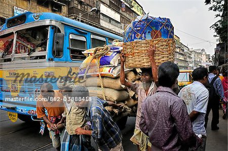 Traffic jam in Kolkata (Calcutta), India Stock Photo - Rights-Managed, Image code: 862-03888418