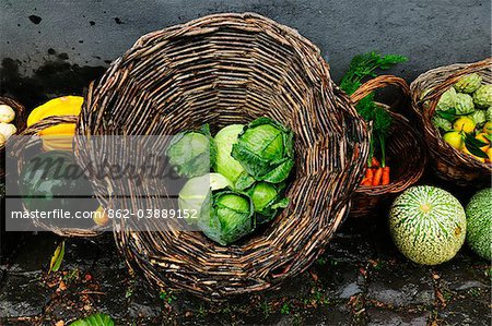 Still life with vegetables at Quinta do Martelo. Sao Mateus, Terceira, Azores islands, Portugal