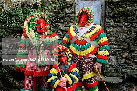 Traditional masks and carnival at Podence, Tras os Montes, Portugal